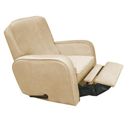 The Rockabye Glider Co. Sunny Tan Chenille Recliner