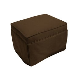 The Rockabye Glider Co. Taylor Chocolate Microfiber Ottoman