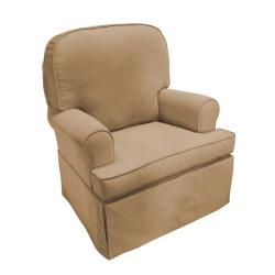 The Rockabye Glider Co. Taylor Tan Microfiber Glider