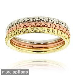 DB Designs Diamond Accent Stackable Eternity Band Ring (Set of 3)
