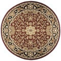 Hand-tufted Regal Burgundy Wool Rug (8' Round)