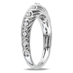 M by Miadora Sterling Silver 1/5ct TDW Diamond Ring (G-H, I2-I3)