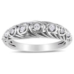Miadora Sterling Silver 1/5ct TDW Diamond Ring (G-H, I2-I3)