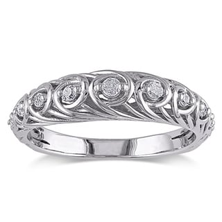 M by Miadora Sterling Silver 1/5ct TDW Diamond Ring (G-H, I2-I3)