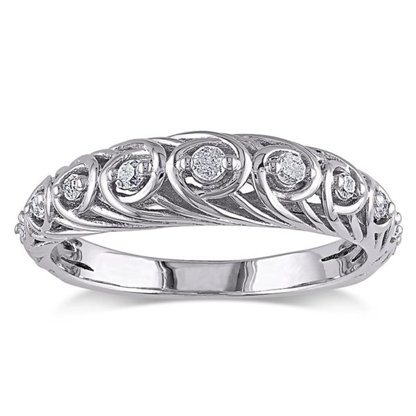 Haylee Jewels Sterling Silver 1/5ct TDW Diamond Ring (G-H, I2-I3)