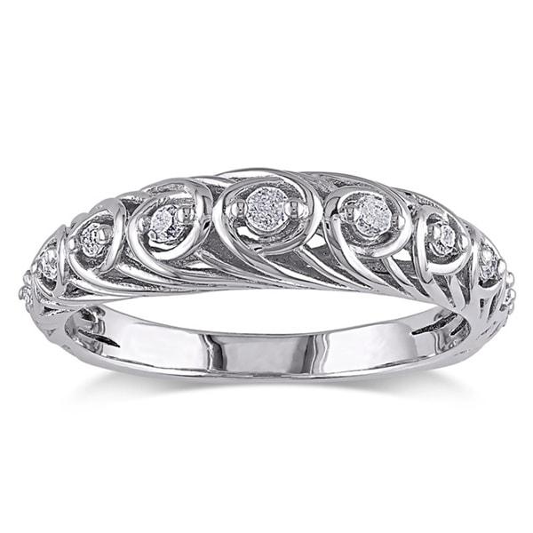 Sterling Silver 1/5ct TDW Diamond Ring (G-H I2-I3)