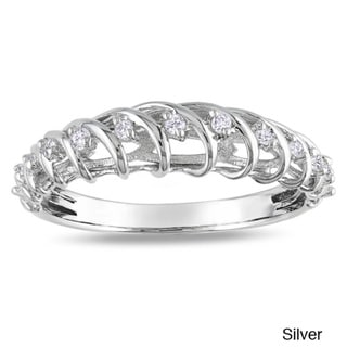 Miadora Sterling Silver 1/6ct TDW Diamond Ring (G-H, I2-I3)