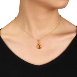 Miadora Yellow Silver Madeira Citrine Fashion Necklace