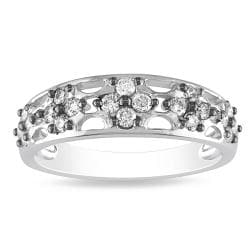 Miadora 14k White Gold 2/5ct TDW Diamond Ring (G-H, I1-I2)