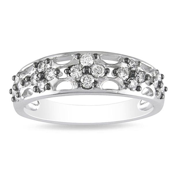 Miadora 14k White Gold 2/5ct TDW Diamond Ring (G-H, I1-I2)