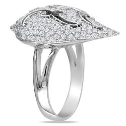 Miadora 18k Gold White 1 5/8ct TDW Diamond Cocktail Ring (G-H, SI1-SI2)