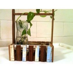 Recycled Wood Fence Rectangular Planter Basket (Thailand)