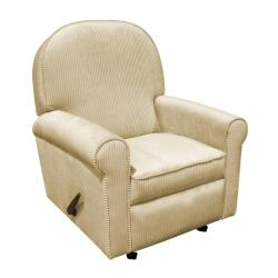 The Rockabye Glider Co. Jayden Tan Chenille Recliner