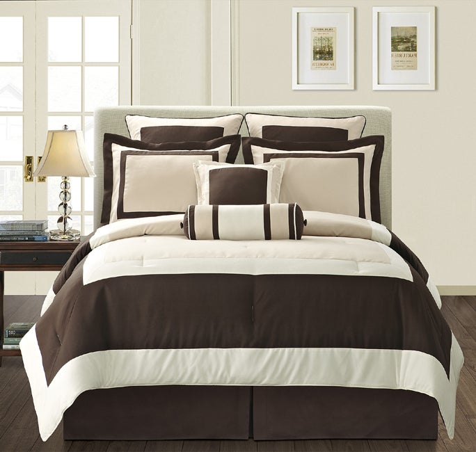 EverRouge Gramercy California King-size 12-piece Bed in a Bag with Sheet Set