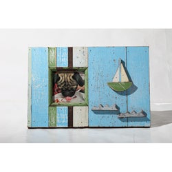 Boat Wood Sailboat Picture Frame (Thailand)