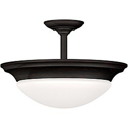 Walton 2-light Oil Rubbed Bronze Semi-flush