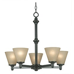 Madison 5-light Bronze Patina Chandelier