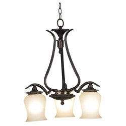 Hardee 3-light Down Oil Rubbed Bronze Chandelier