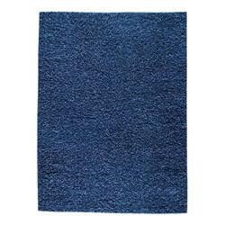 Hand-woven SMIX Blue Wool Rug (8'3 x 11'6)