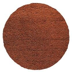 Hand-woven SMIX Orange Wool Rug (5' Round)