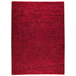 Hand-woven SMIX Red Wool Rug (6'6 x 9'9)