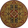 Hand-tufted Ashton Olive Round Wool Rug (8' Round)