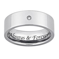 Titanium Men's Diamond Accent 'Always & Forever' Band
