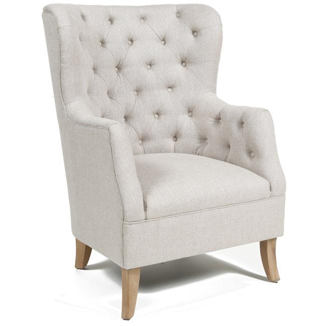 Kosas Home Raven Light Cream Club Chair