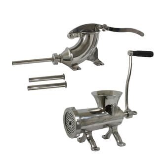 Stainless Steel Stuffer and Grinder Set
