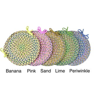 Tropical Delight Braided Reversible Chair Pads (Set of 4)