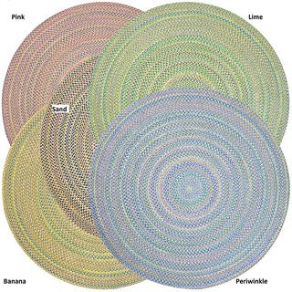 Braided Aurora Indoor/ Outdoor Rug (6' Round)