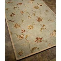 Hand-tufted 'Diana' Green Wool Rug (9'6 x 13'6)