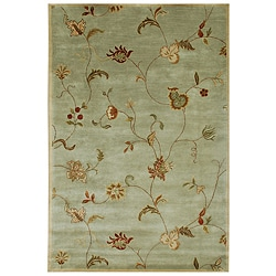 Hand-tufted 'Diana' Green Wool Rug (9'6 x 13'6)