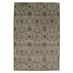 Hand-tufted Orosius Blue Wool Area Rug (9'6 x 13'6)
