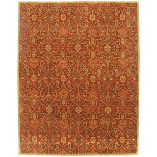 Orosius Hand-tufted Red Wool Rug (2' x 3')