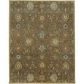 Hand-Tufted Floral Wool Rug (9'6 x 13'6)