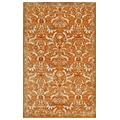 Valgus Hand-tufted Orange/ White Wool Rug (9'6 x 13'6)