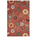 Hand-tufted Red/ Gold Wool Rug (9'6 x 13'6)