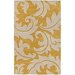 Bellona Hand-tufted Gold Wool Rug (2' x 3')
