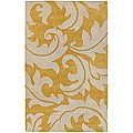 Bellona Hand-tufted Gold Wool Rug (3'6 x 5'6)