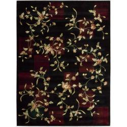 Nourison Chambord Black Floral Rug (7'6 x 9'6)