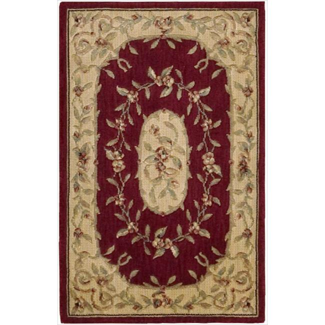 Nourison Chambord Red Floral Rug (9'6 x 13')