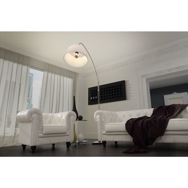 Alpha White Fabric Floor Lamp