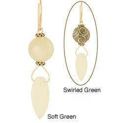 Gold Fill 14k Jade 'Nahele' Earrings