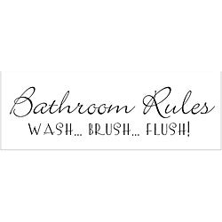 Vinyl Attraction 'Bathroom Rules...' Vinyl Wall Art