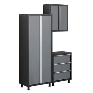 NewAge Products Bold Series 3-Piece Grey Cabinetry Set with Tool