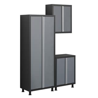 NewAge Products Bold Series Grey 3-Piece Cabinetry Set with Base