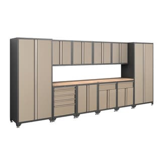 NewAge Products Pro Series 12-Piece Taupe Cabinetry Set