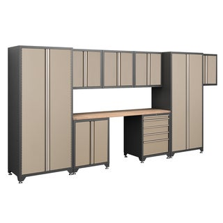 NewAge Products Pro Series Taupe 9-Piece Cabinetry Set