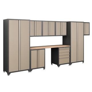 NewAge Products Pro Series Taupe 9-oiece Cabinetry Set